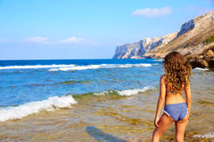 Las Rotas beach in Denia Alicante Royalty Free Stock Images