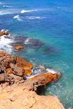 Las Rotas blue mediterranean sea shore Denia Royalty Free Stock Photo
