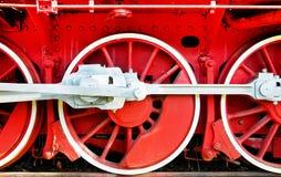 Las ruedas de un motor de vapor viejo Fotografía de archivo libre de regalías