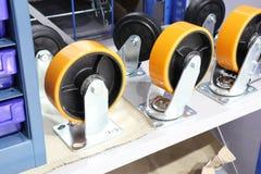 las ruedas resistentes de Industriall Imagenes de archivo