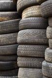 Las ruedas usadas Fotos de archivo libres de regalías