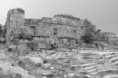 Las ruinas antiguas de Hierapolis Fotos de archivo libres de regalías