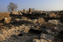 Las ruinas antiguas de Timna de Judea foto de archivo