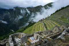 Las ruinas antiguas increíbles de Machu Picchu en Perú Imágenes de archivo libres de regalías