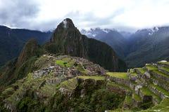 Las ruinas antiguas increíbles de Machu Picchu en Perú Fotos de archivo libres de regalías