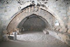 Las ruinas de Azraq se escudan, Jordania central-del este, 100 kilómetros al este de Amman Foto de archivo libre de regalías