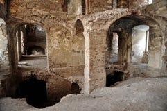 Las ruinas de Banffy se escudan en Bontida, Rumania imagen de archivo