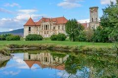 Las ruinas de Banffy se escudan en Bontida, Transilvania, Rumania, Europa foto de archivo libre de regalías