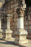 Las ruinas de Capernaum Foto de archivo