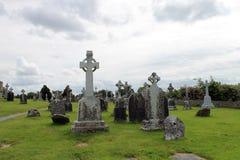 Las ruinas de Clonmacnoise en Irlanda Fotografía de archivo libre de regalías
