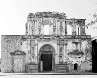 Las ruinas de Compañía de Jesús en Antigua, Guatemala Imagen de archivo libre de regalías