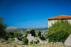 Las ruinas de la barra vieja de la ciudad, Montenegro Imagen de archivo