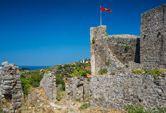 Las ruinas de la barra vieja de la ciudad, Montenegro Imagen de archivo libre de regalías