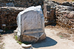 Las ruinas de la ciudad antigua del lado, Turquía Foto de archivo