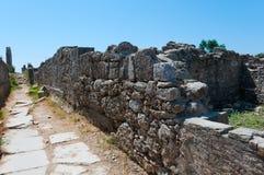 Las ruinas de la ciudad antigua del lado, Turquía Imagenes de archivo