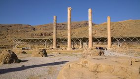 Las ruinas de la ciudad de persepolis metrajes