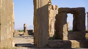 Las ruinas de la ciudad de persepolis almacen de metraje de vídeo