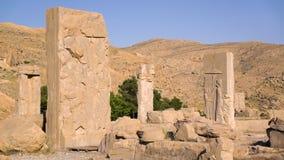 Las ruinas de la ciudad de persepolis almacen de video