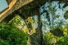 Las ruinas de la fábrica Foto de archivo