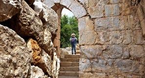 Las ruinas de la fortaleza del ` s del Nimrod en Israel Imagen de archivo libre de regalías