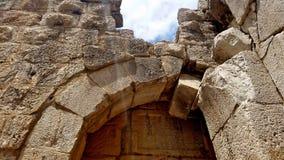 Las ruinas de la fortaleza del ` s del Nimrod en Israel Foto de archivo