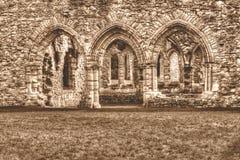 Las ruinas de la sepia cisterciense de HDR del monasterio de la abadía B de Netley entonan Foto de archivo libre de regalías