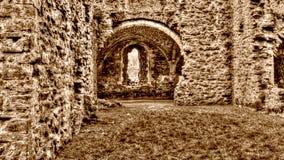 Las ruinas de la sepia cisterciense de HDR del monasterio de la abadía K de Netley entonan Imagenes de archivo