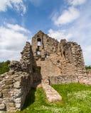 Las ruinas de la torre de Elphinstone en Kildrummy se escudan Escocia británica Imagen de archivo libre de regalías