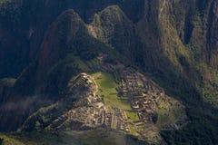 Las ruinas de Machu Picchu Foto de archivo libre de regalías