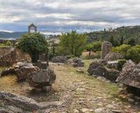 Las ruinas de Stari barran la fortaleza antigua, Montenegro Imagen de archivo libre de regalías