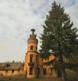Las ruinas de un castillo viejo abandonado Fotografía de archivo libre de regalías