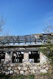 Las ruinas de un edificio de ladrillo Fotos de archivo