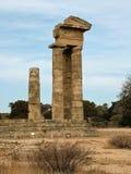 Las ruinas de un templo de Apolo antiguo en Rodas Fotografía de archivo libre de regalías