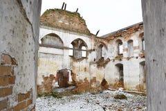 Las ruinas de una sinagoga imagen de archivo