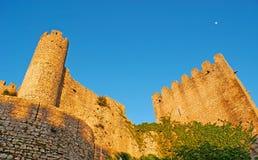 Las ruinas del castillo de Obidos foto de archivo