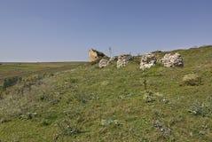 Las ruinas del castillo de Vysechkovsky Foto de archivo