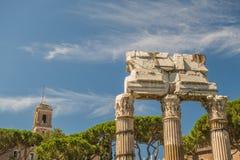 Las ruinas del foro romano Fotos de archivo