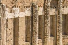 Las ruinas del foro romano Imagen de archivo