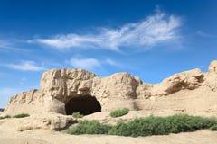 Las ruinas del jiaohe Fotos de archivo libres de regalías