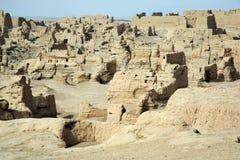 Las ruinas del jiaohe Foto de archivo libre de regalías