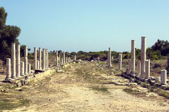 Las ruinas del lado antiguo Imagen de archivo libre de regalías