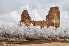 Las ruinas del monasterio benedictino de Araca Imagen de archivo