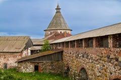 Las ruinas del monasterio de Solovetsky Imagen de archivo libre de regalías