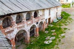 Las ruinas del monasterio de Solovetsky Imagenes de archivo