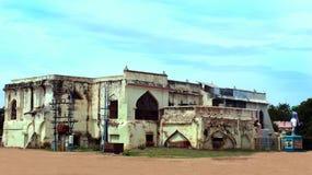Las ruinas del palacio del maratha del thanjavur Fotografía de archivo