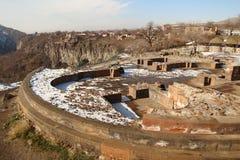 Las ruinas del templo del santo Sion, Armenia imagenes de archivo