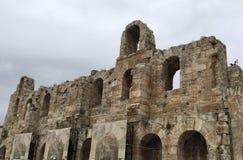 Las ruinas derechas de Grecia fotografía de archivo libre de regalías