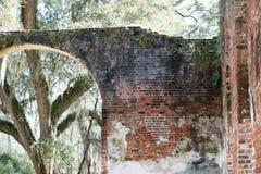 Las ruinas meridionales queman la iglesia imagen de archivo libre de regalías