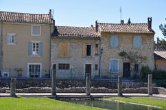 Las ruinas romanas extensas en la Vaison-La-lechuga romana, Provence, Francia Fotos de archivo