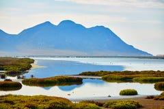 Las Salinas in Cabo de Gata Almeria Royalty Free Stock Image